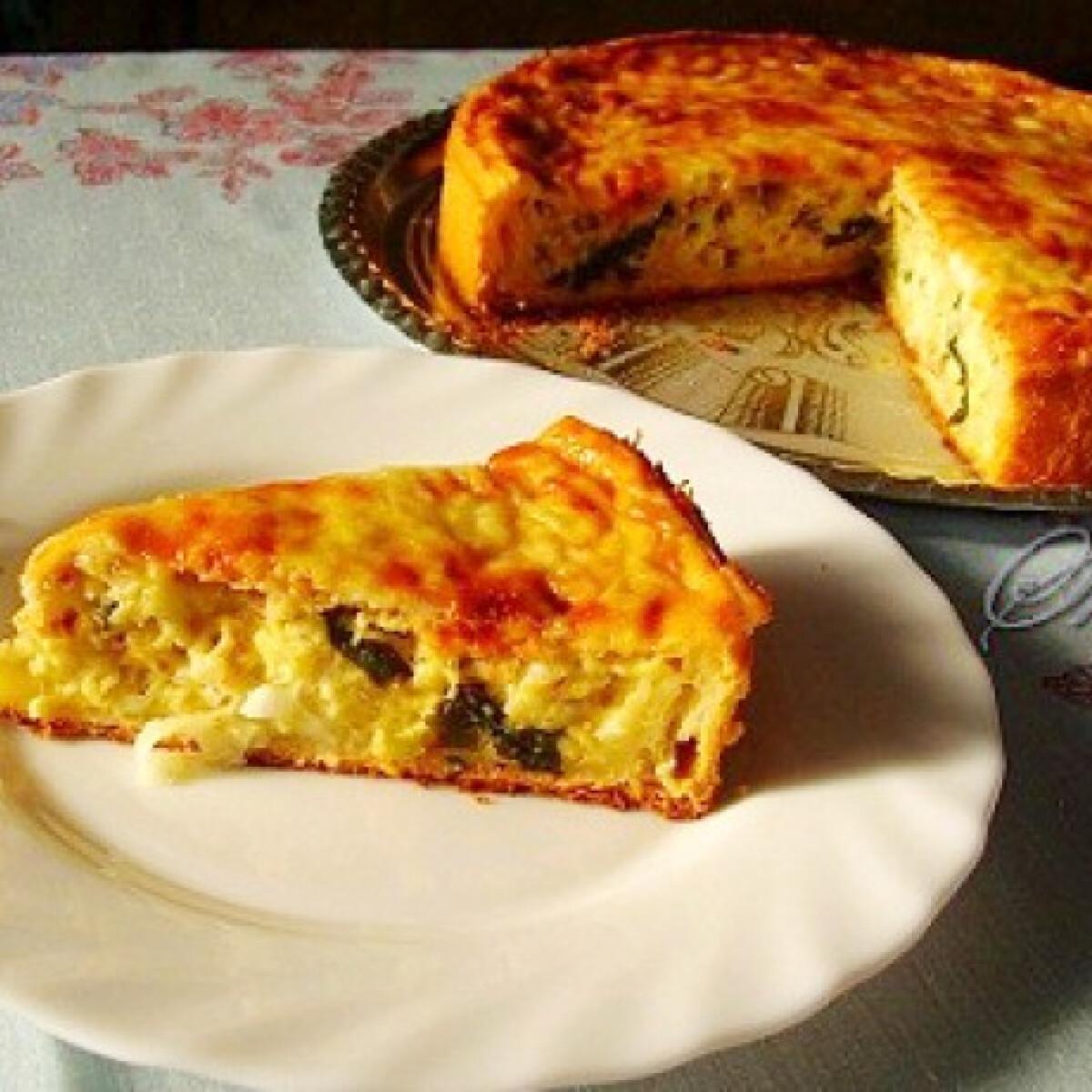 Ezen a képen: Hagymás-sajtos pite