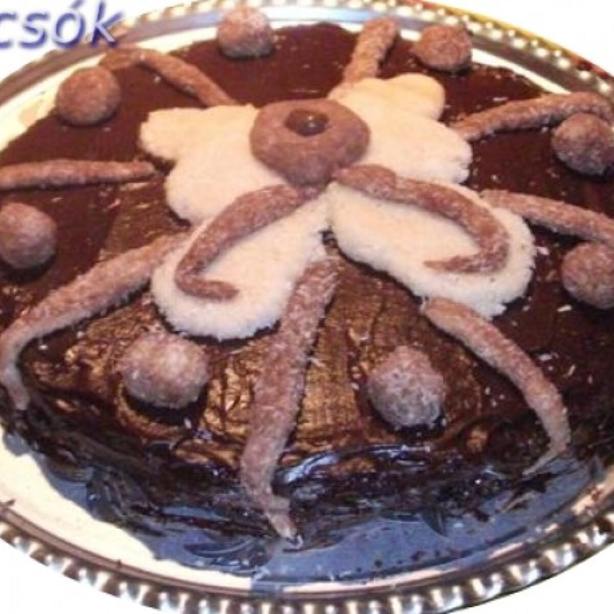 Díszített Sacher torta