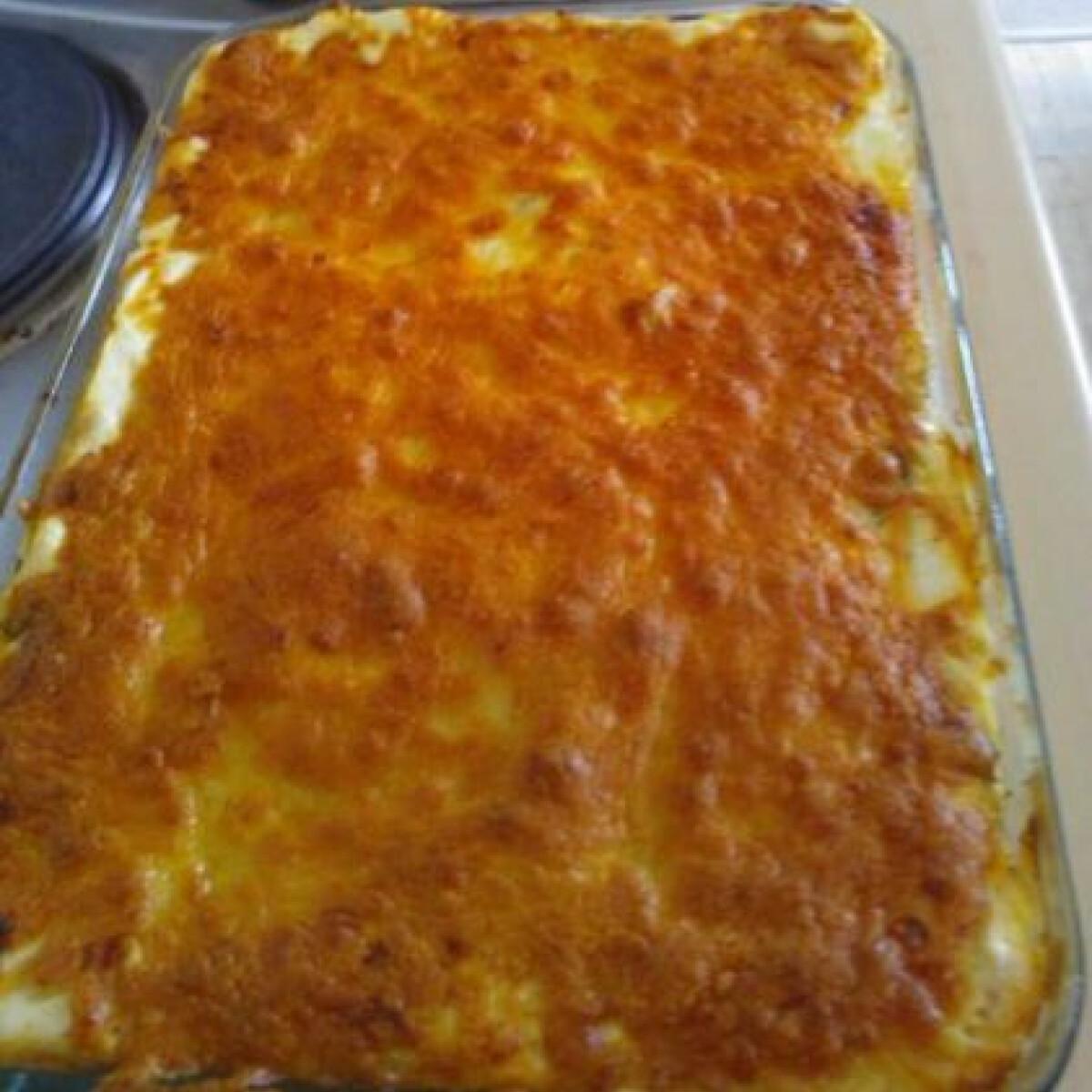 Ezen a képen: Zöldséges-sonkás lasagne