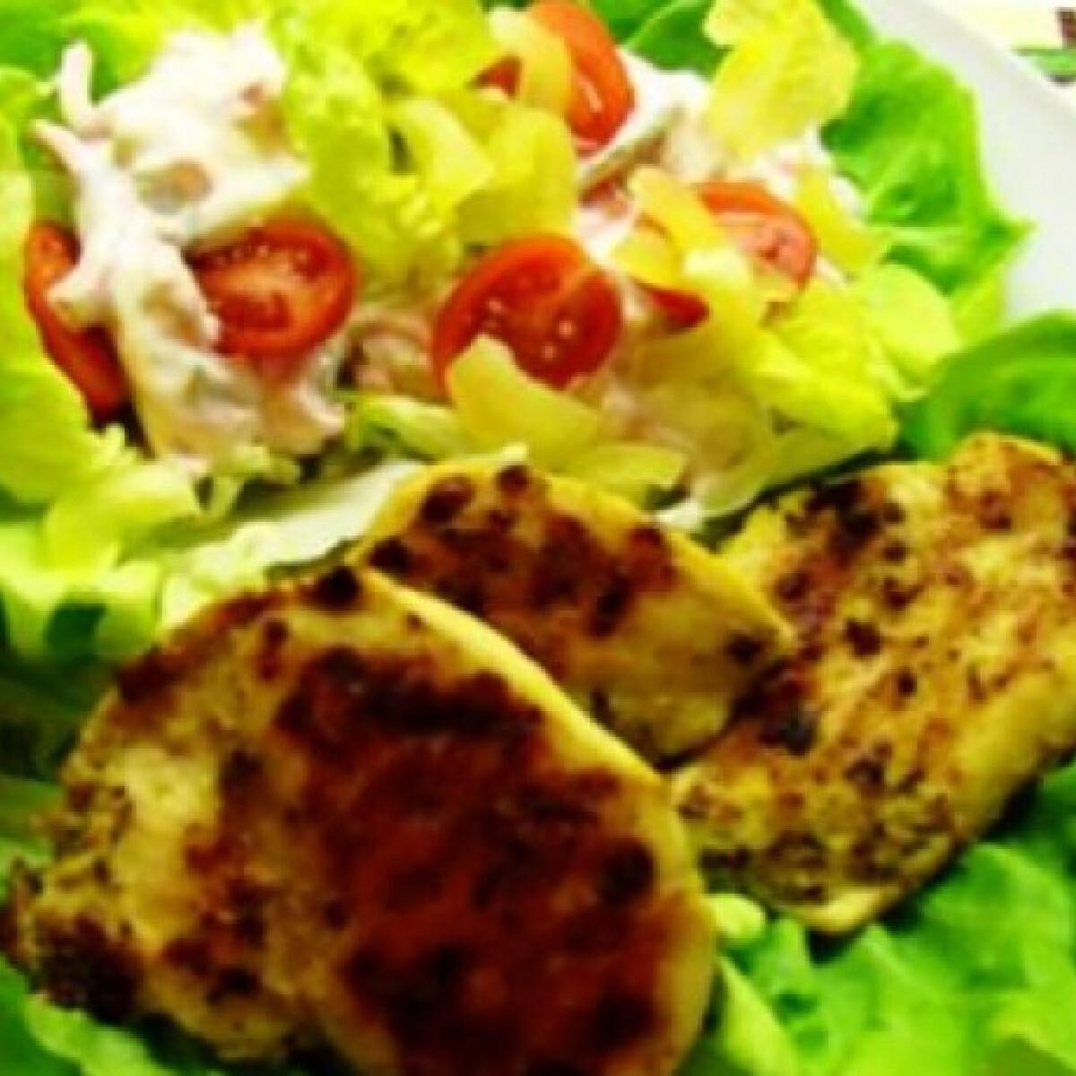 Ezen a képen: Dijoni mustáros csirkemell grillezve