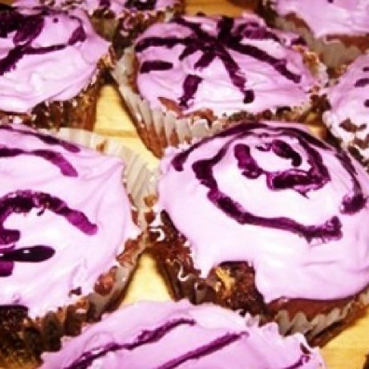 Mályvacukros muffin