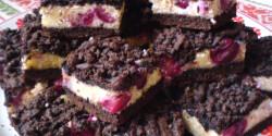 Meggyes-túrós-kakaós reszelt sütemény