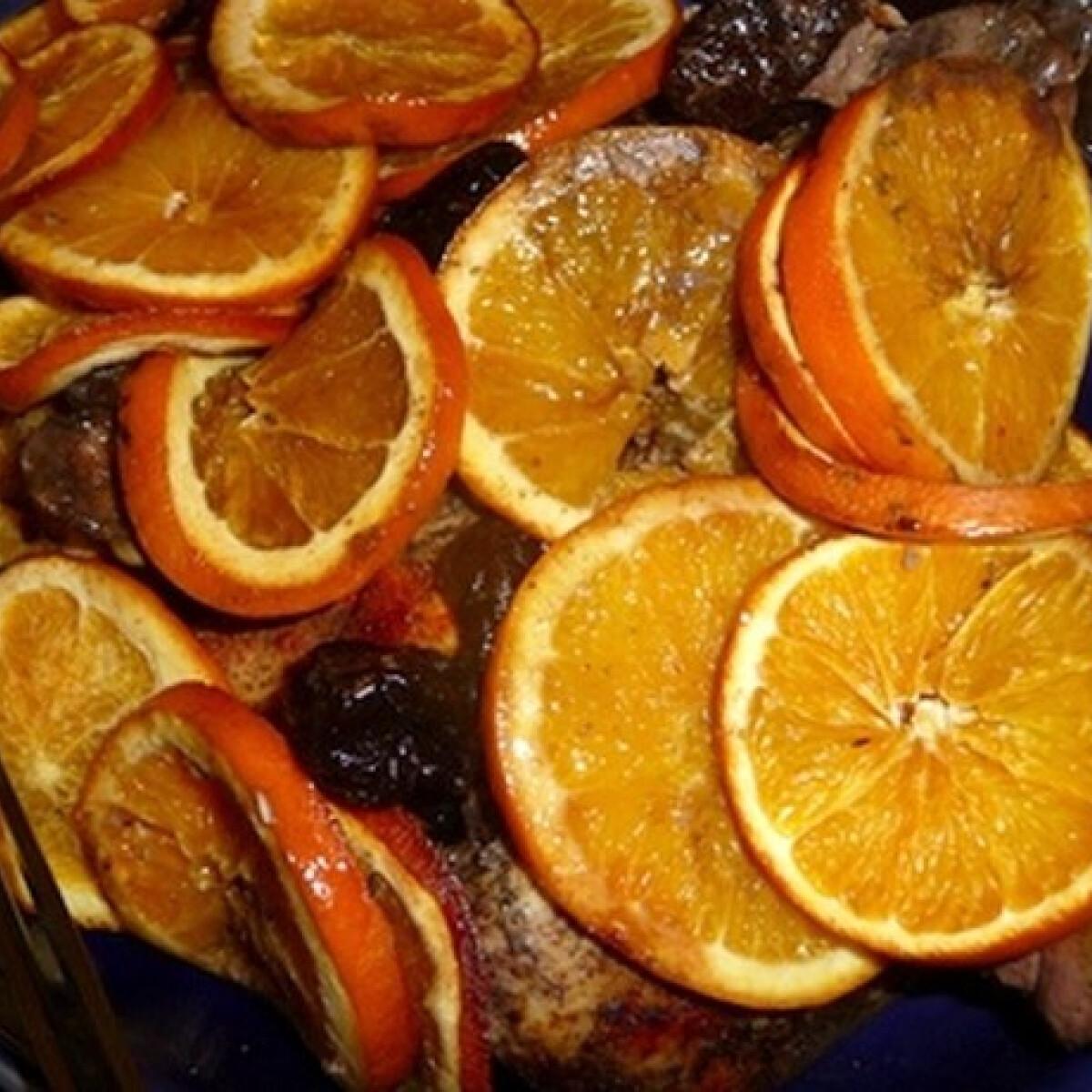 Narancsos csirke aszalt szilvával