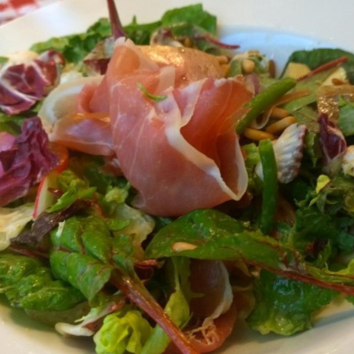 Tavaszi prosciutto saláta