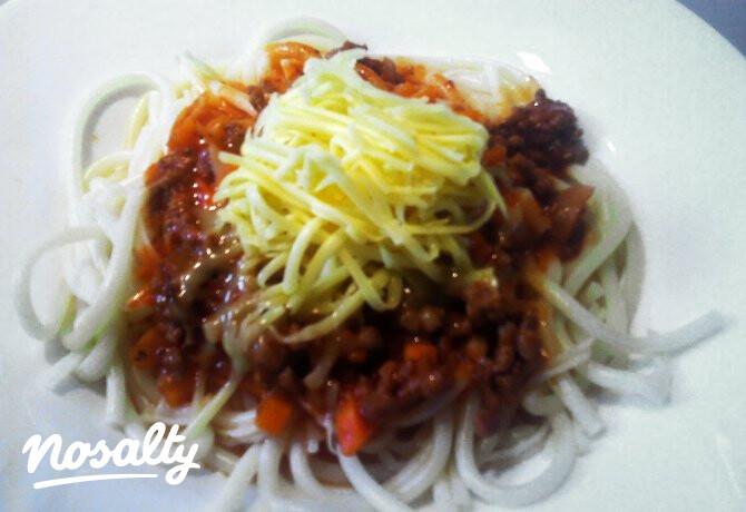 Bolognai spagetti passzírozott paradicsommal - Nosalty