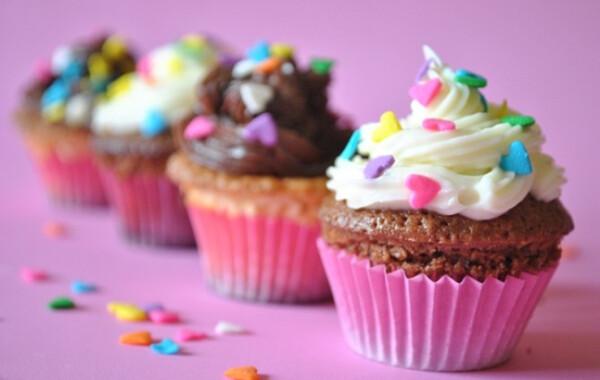 Csokikrémes és krémsajtos cupcake