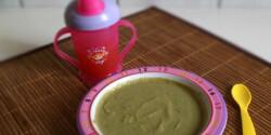 Zöldbabos-májas brokkolifőzelék babáknak
