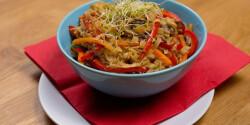 Kínai zöldséges pirított tészta