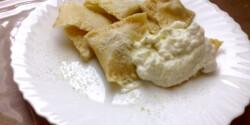 Ravioli tejszínes-fokhagymás szósszal