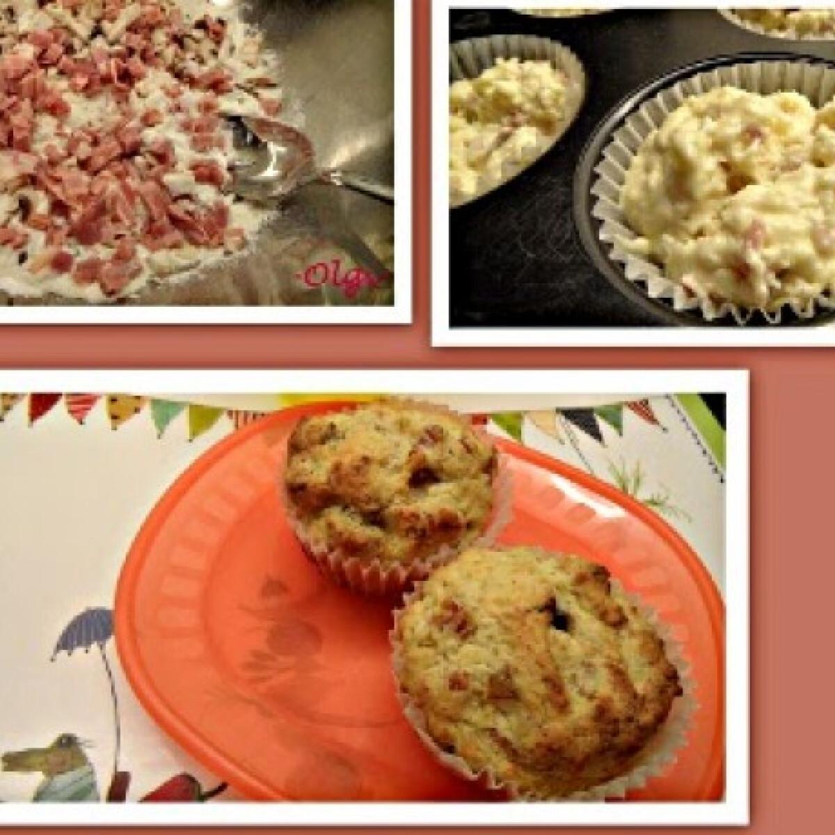 Sonkás-gombás-sajtos muffin Olgitól