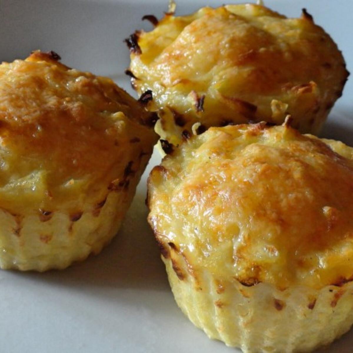 Ezen a képen: Burgonya röszti muffin