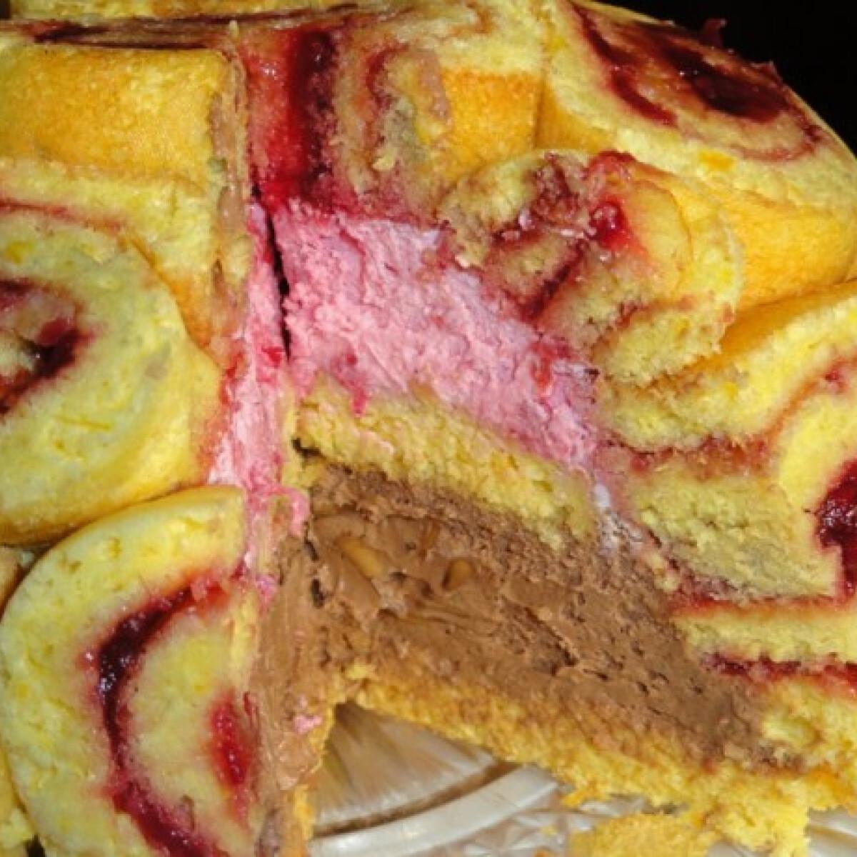 Csokis-málnás mousse torta