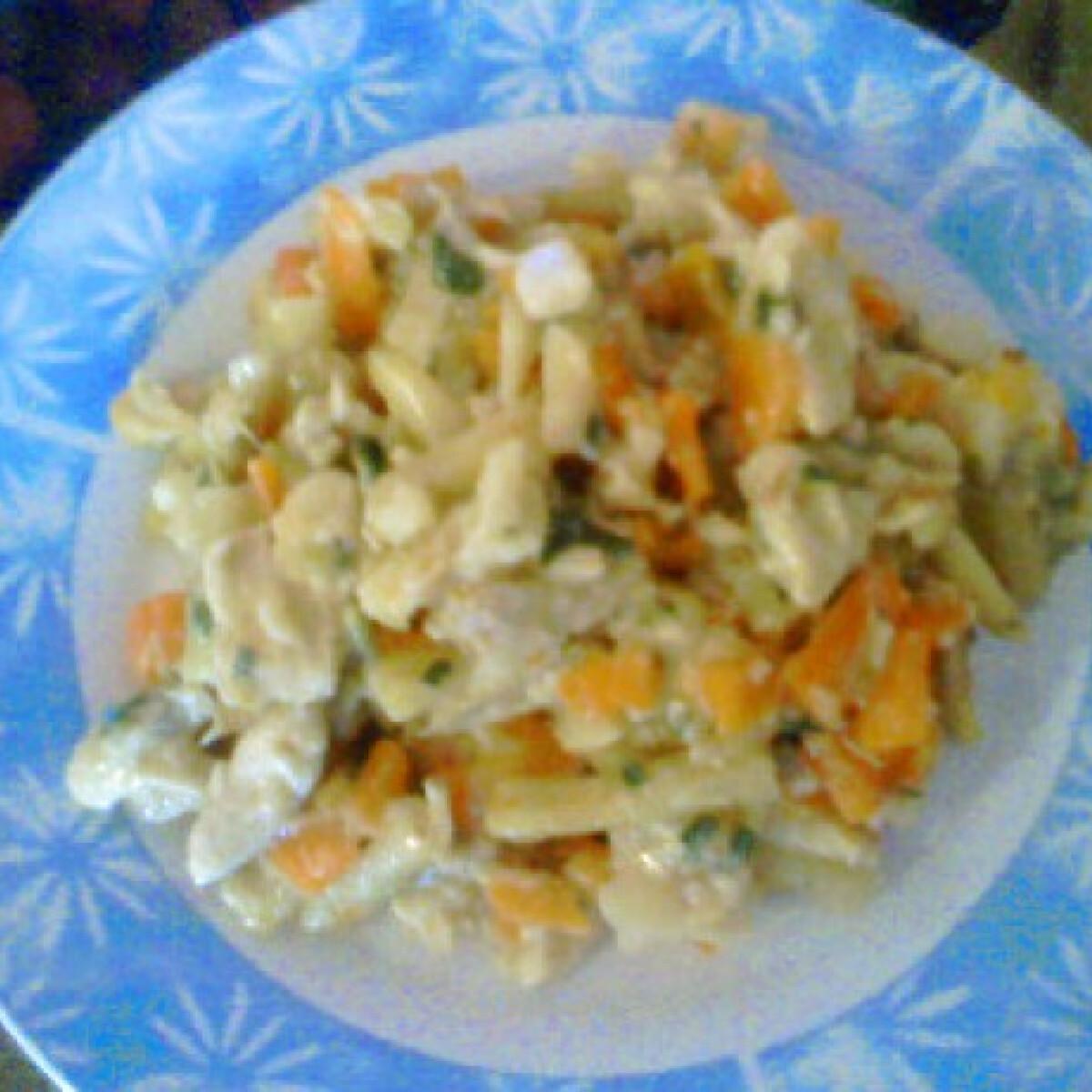Ezen a képen: Csirke zöldségesen Angie konyhájából