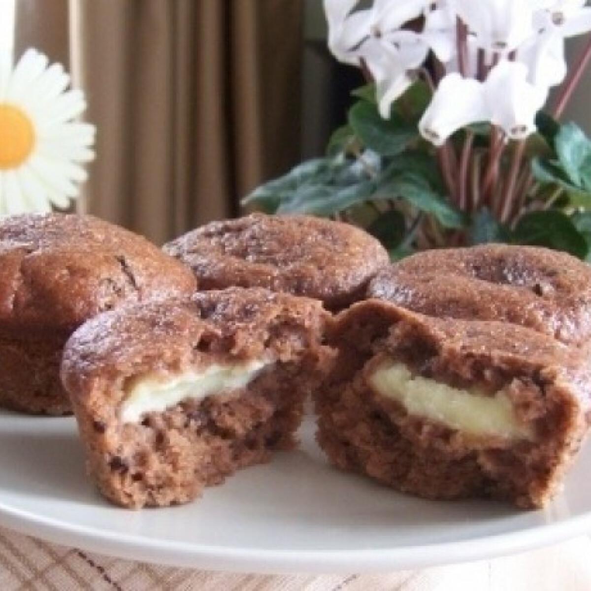 Ezen a képen: Banános-csokis muffin 3. (pudinggal töltve)