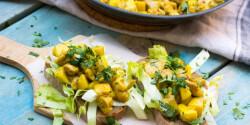 Almás-currys-csirkés szendvics