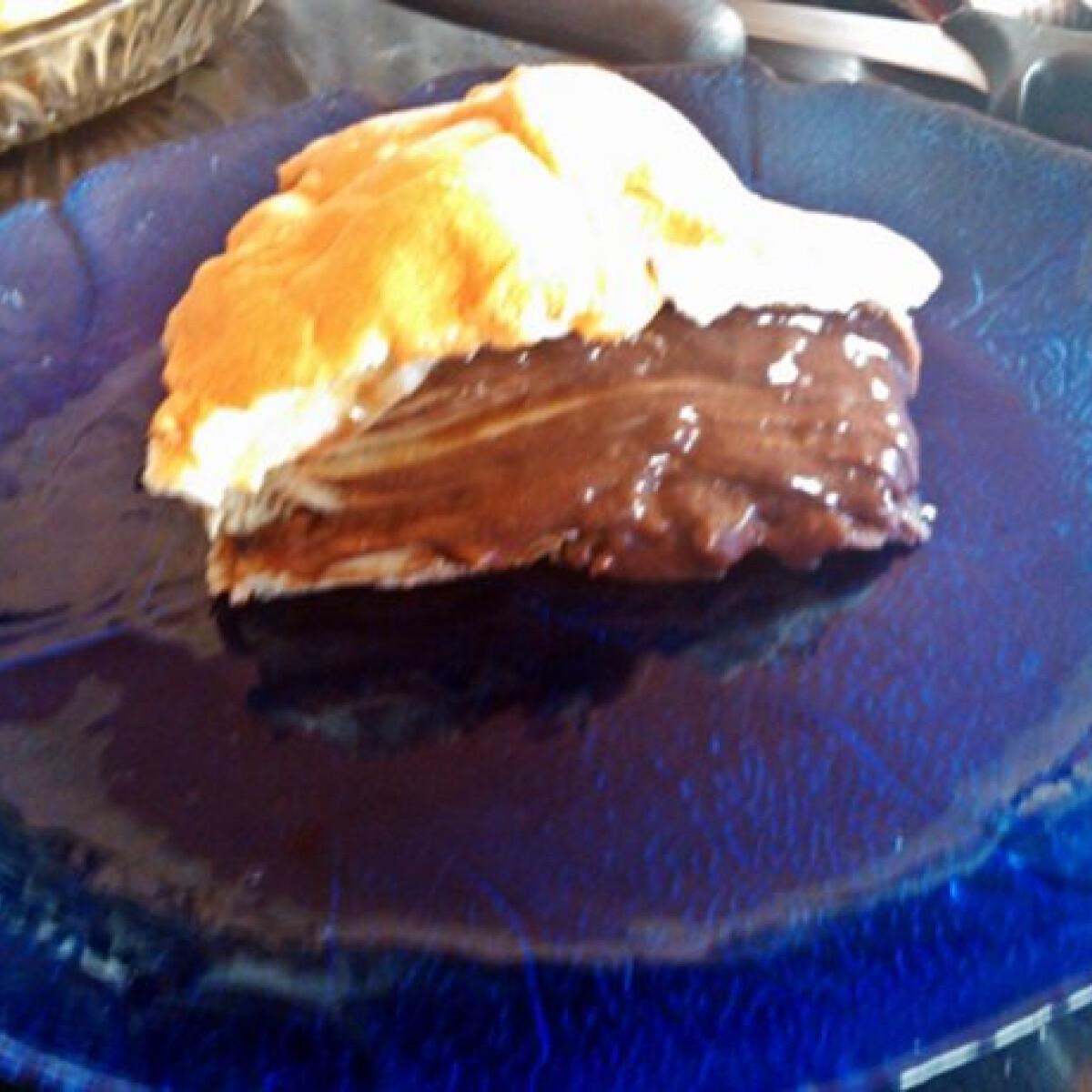 Ezen a képen: Sült csokis rakott palacsinta