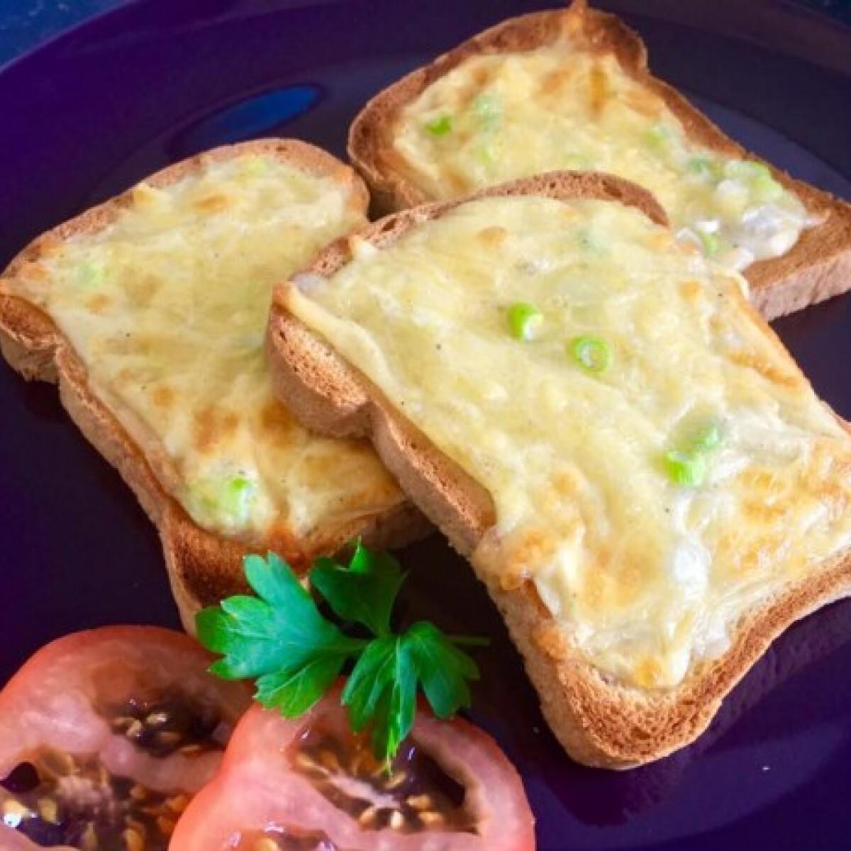 Gluténmentes sajtos melegszendvics
