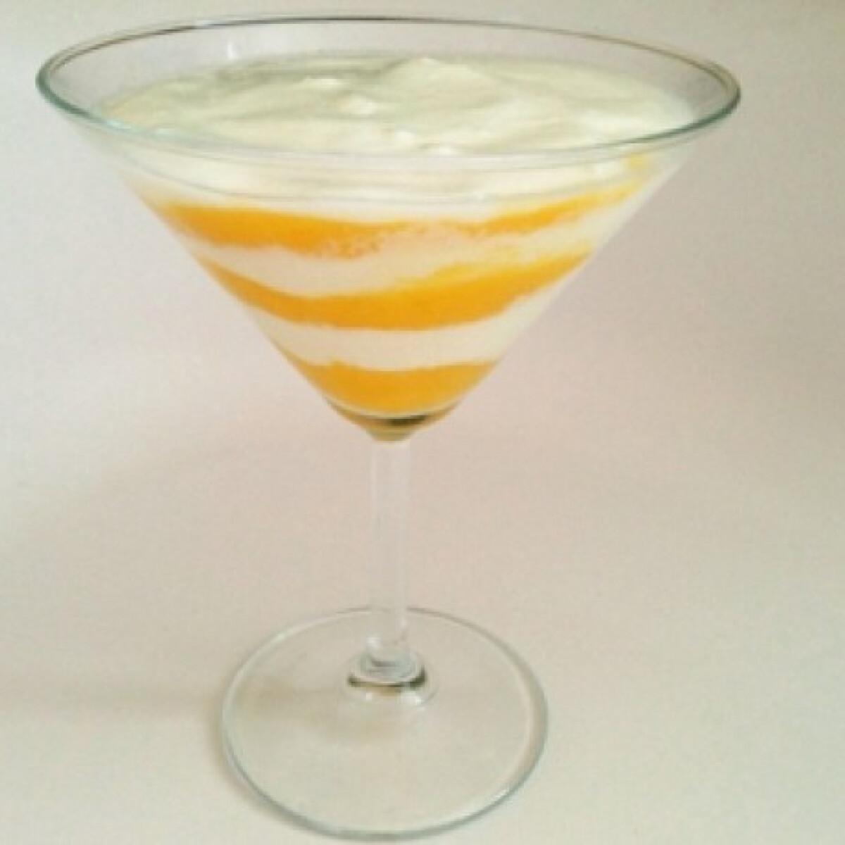 Ezen a képen: Mangós-joghurtos pohárkrém