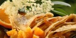 Bodzavirágos palacsinta narancsdzsemmel