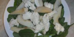 Mozzarellás-körtés saláta