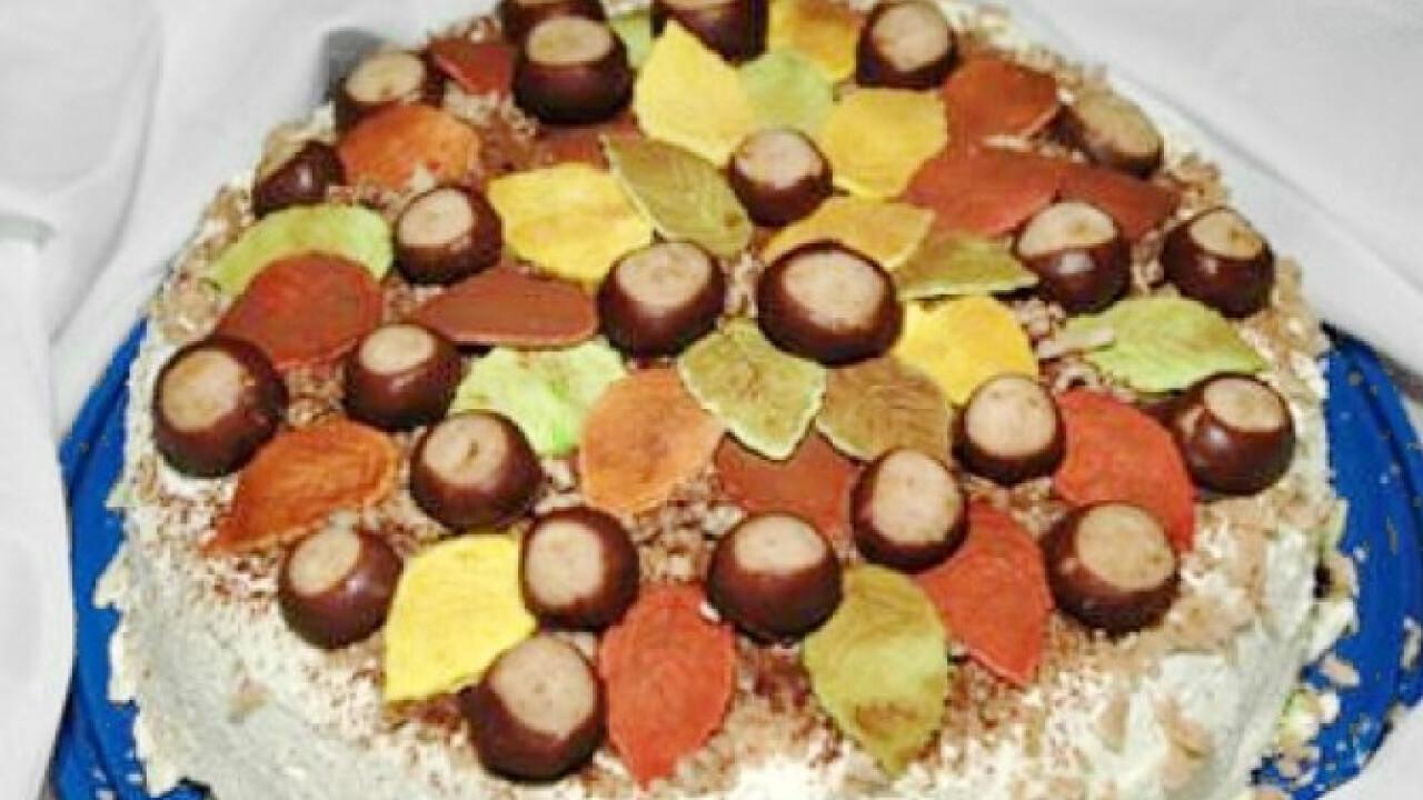 Őszi gesztenyepüré-torta