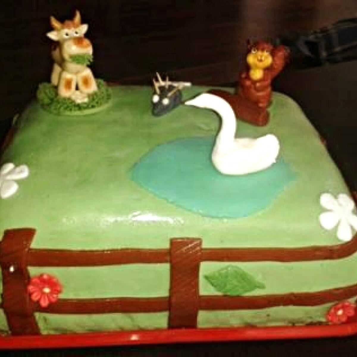 Szülinapi állatos torta