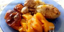 Sütőtökkel - almával sült csirkecomb