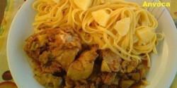Lecsós-kínai csirkecomb