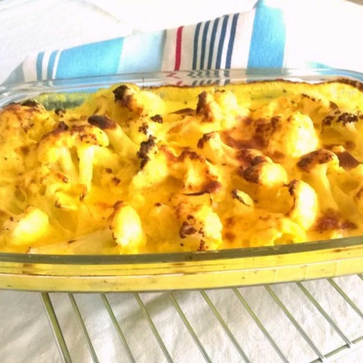Kafiol sajtszószban sütve gluténmentesen