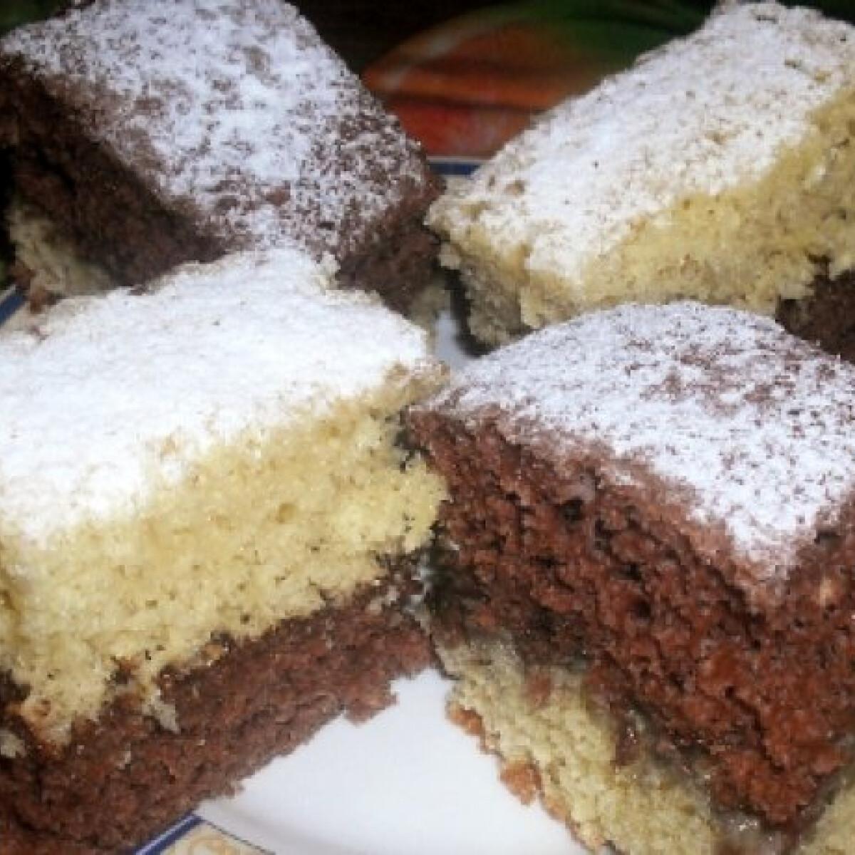 Ezen a képen: Kétszínű sütemény Kitti konyhájából
