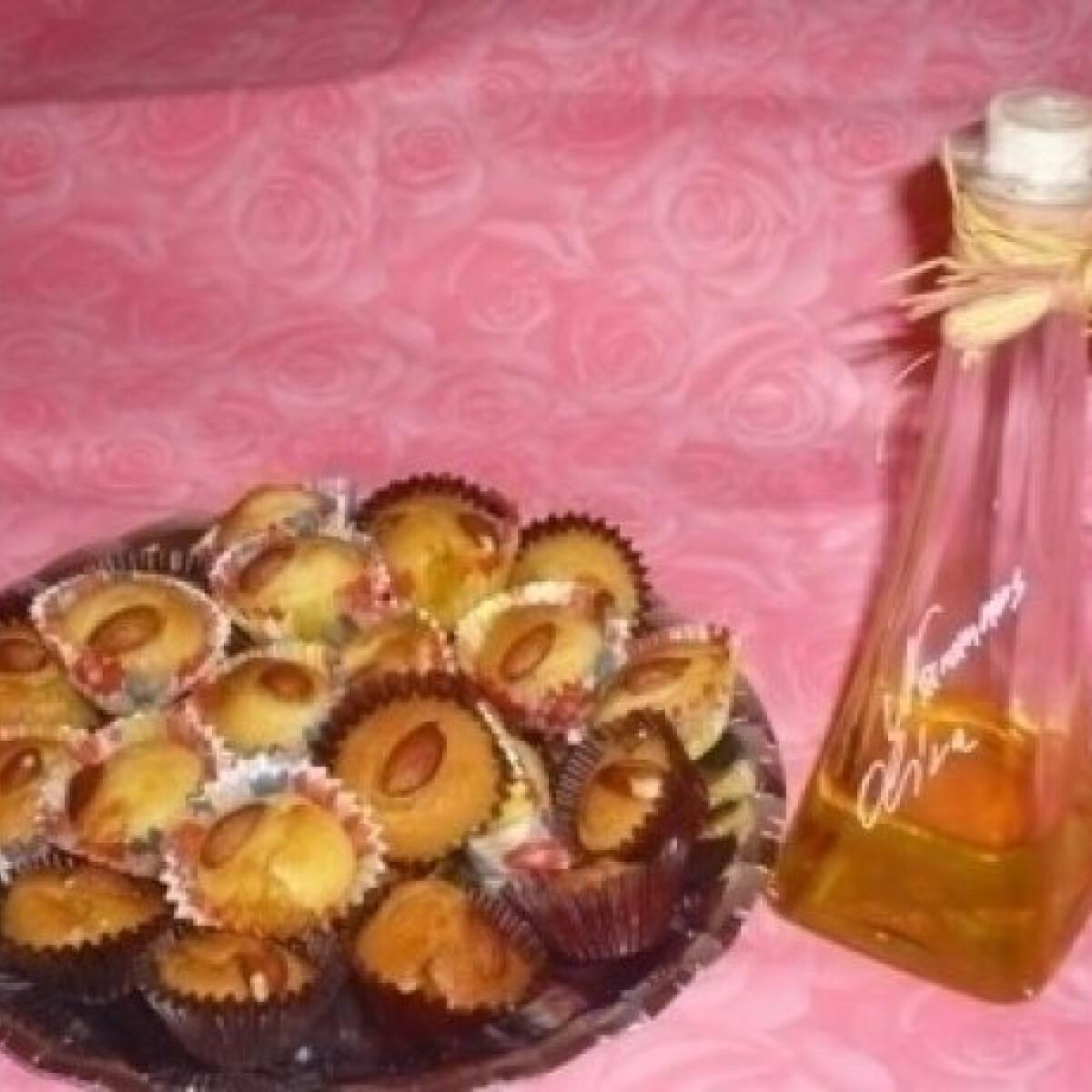 Marcipános-narancsos muffin