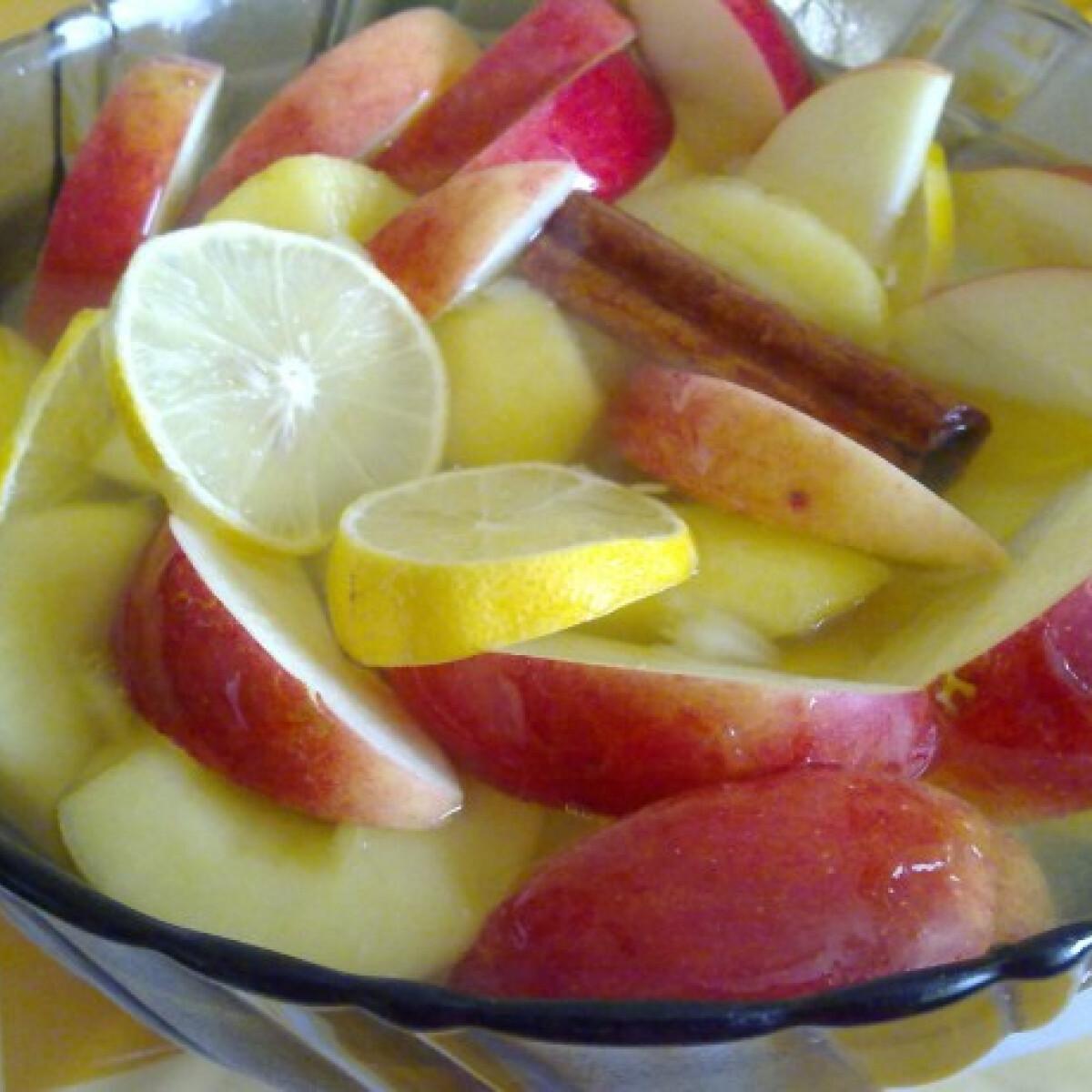 Ezen a képen: Vodkás almakompót