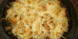 Sütőben sült sztrapacska sajtos szalonnával