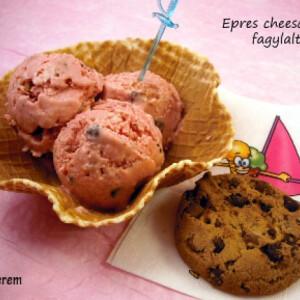 Epres cheesecake fagylalt