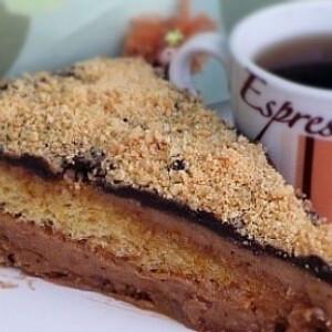 Mogyorós-karamellás torta