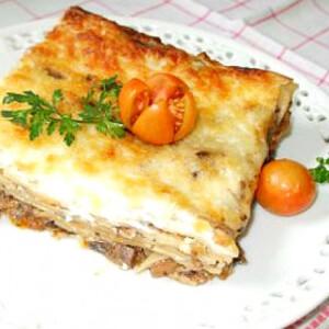 Gombás lasagne Olaszné Anci konyhájából