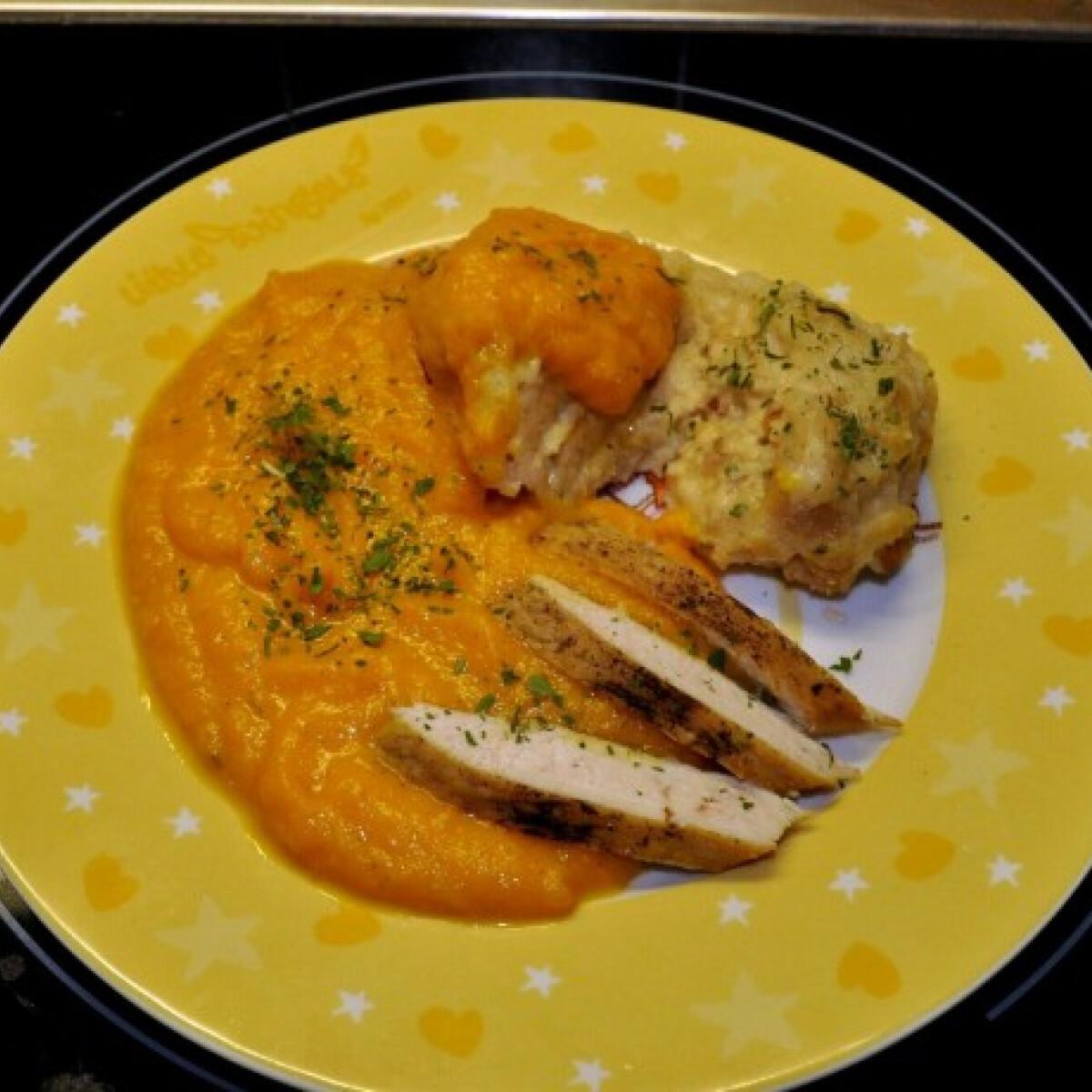 Vadas-csirke zsemlegombóccal