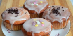 Narancsos muffin citromos cukormázzal