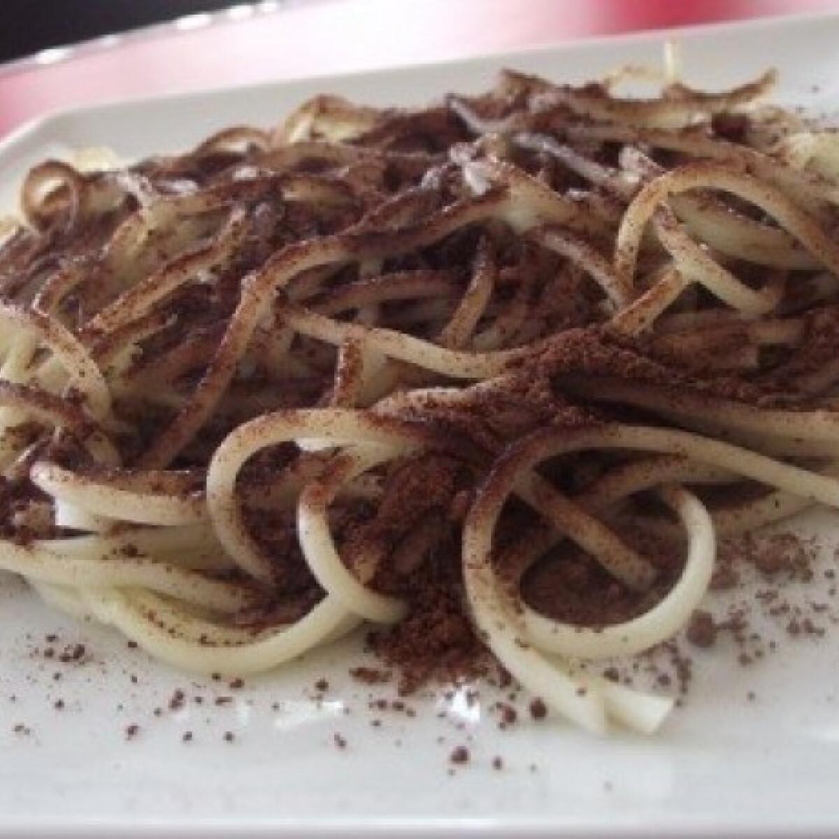 Ezen a képen: Kakaós spagetti
