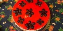 Szedres-málnás tejberizs torta