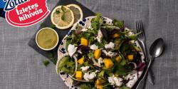 Tavaszi saláta mangóval, light Zottarellával és friss öntettel