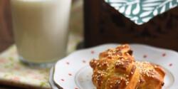 Burgonyás-kolbászos pogácsa maradék krumplipüréből