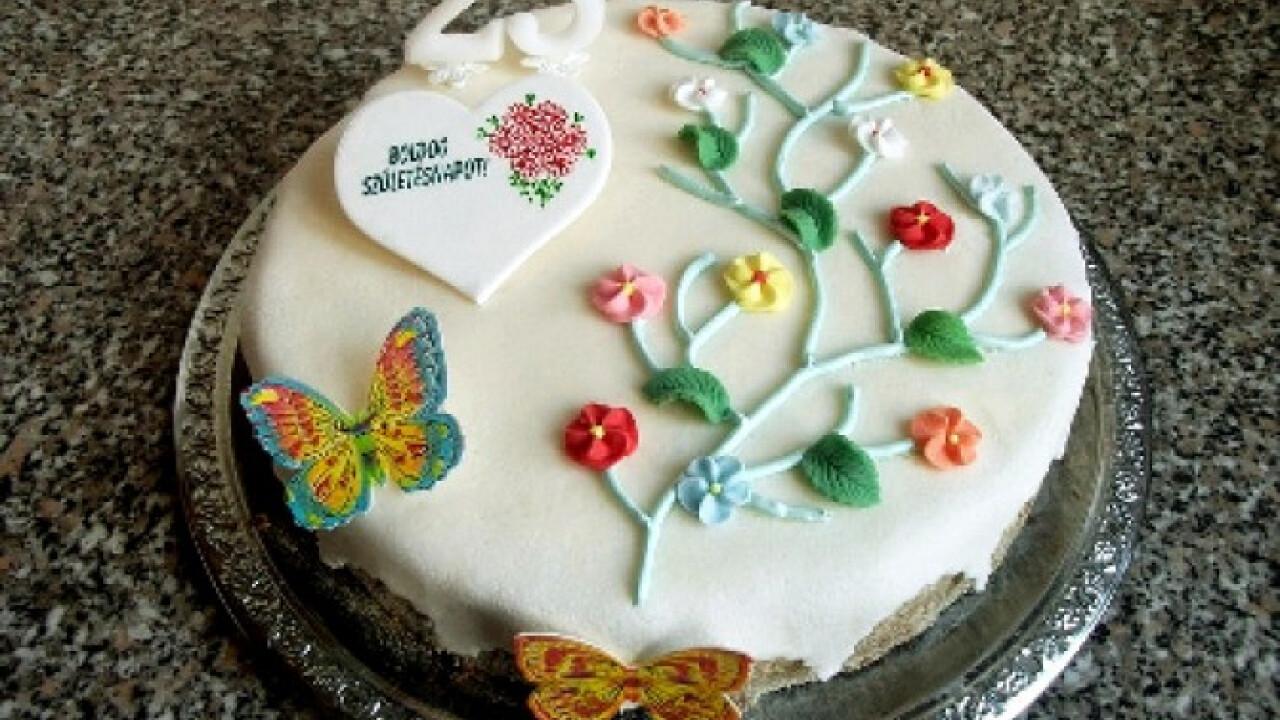 Tavaszi szülinapi torta