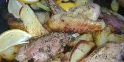 Csirke krumplival és citrommal