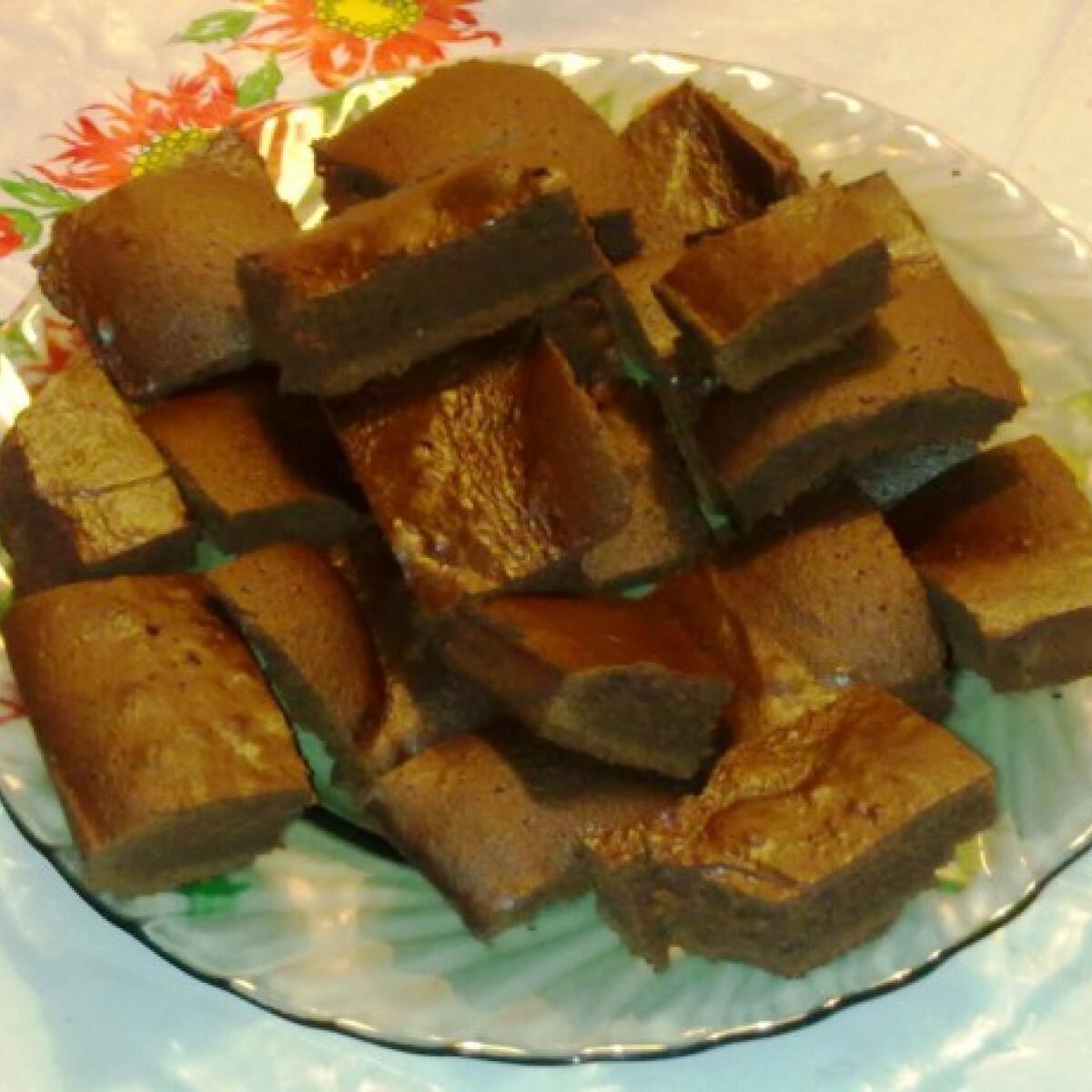 Kakaós kávés brownie