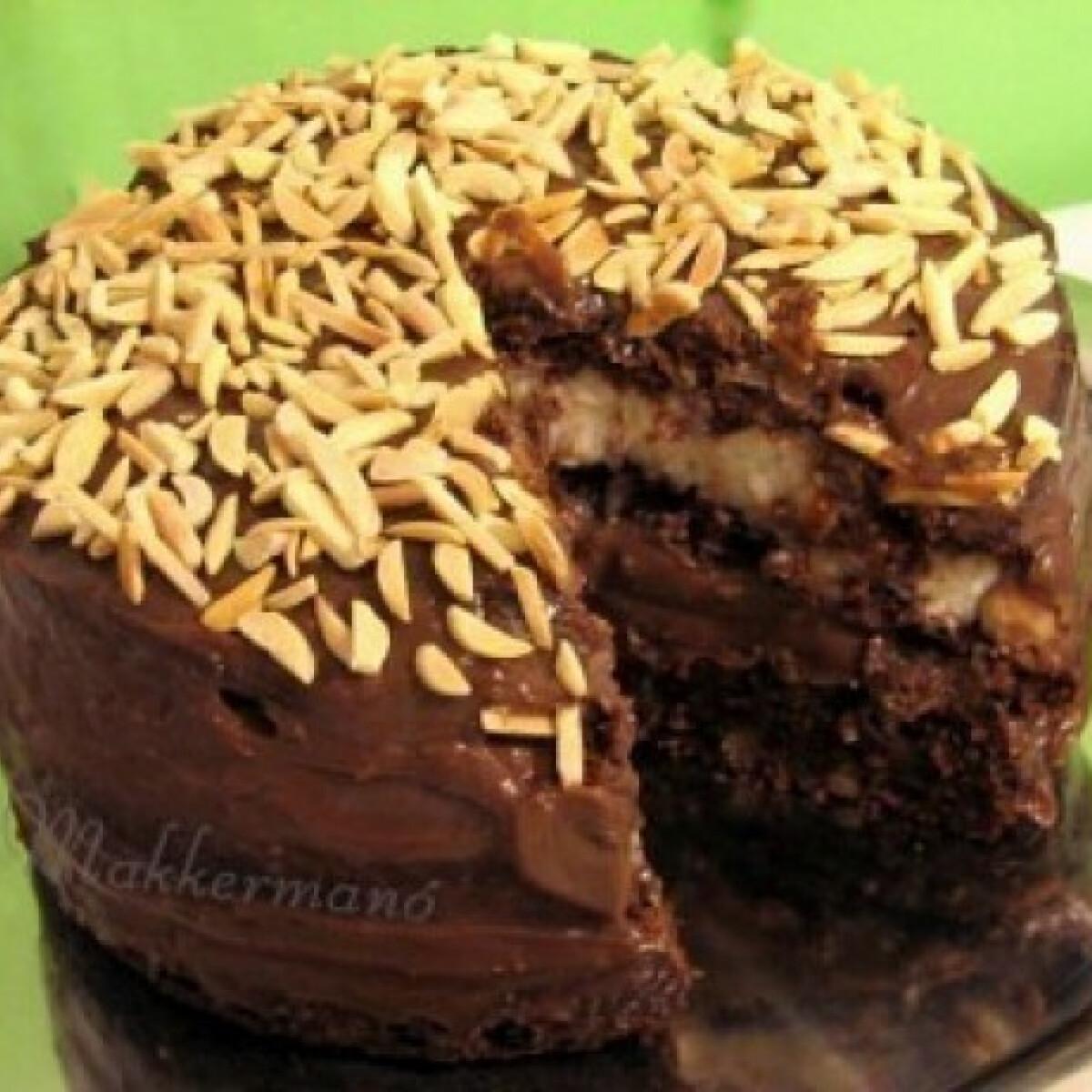 Nutella torta vaníliás tejkrémmel