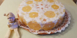 Narancsos-tejfölös torta