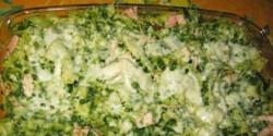 Spenótos-sonkás tészta