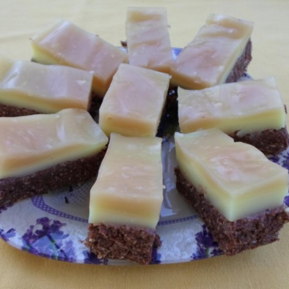 Ezen a képen: Sütés nélküli kókuszos-pudingos süti