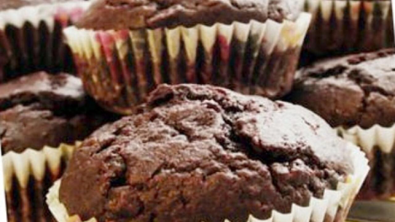 Céklás-kakaós muffin